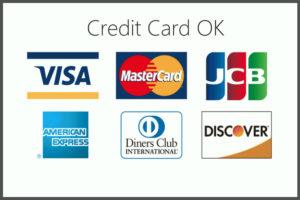 クレジットカード OK