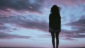 sad woman nature